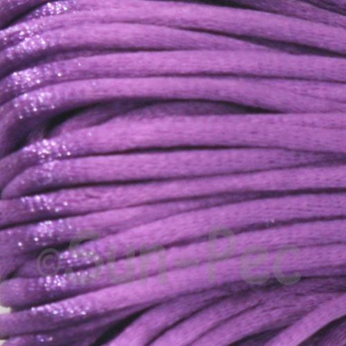 Dark Purple 2.5mm Satin Rattail Knotting Cord 5m - 10m