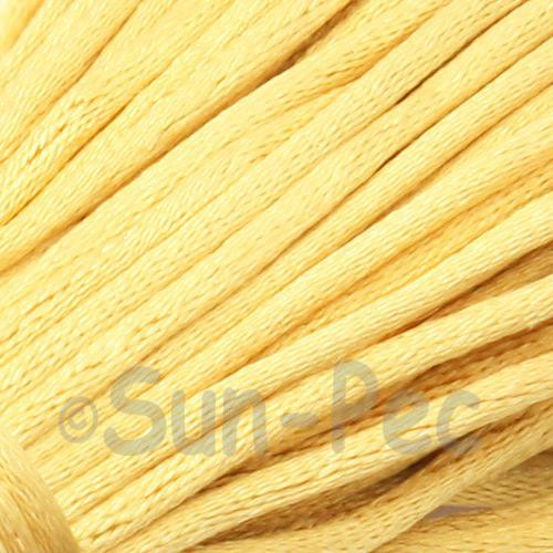 Dusty Yellow 2.5mm Satin Rattail Knotting Cord 5m - 10m