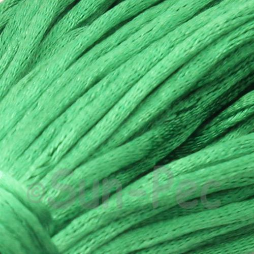 Green 2.5mm Satin Rattail Knotting Cord 5m - 20m