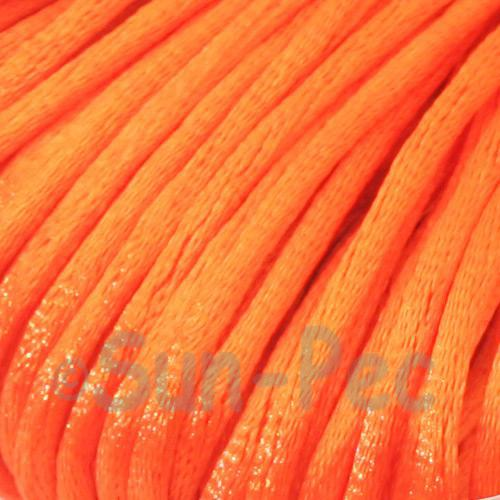 Hot Orange 2.5mm Satin Rattail Knotting Cord 5m - 10m