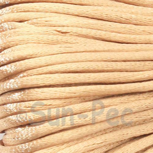 Light Brown 2.5mm Satin Rattail Knotting Cord 5m - 10m
