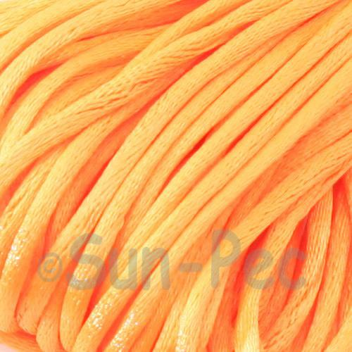 Light Orange 2.5mm Satin Rattail Knotting Cord 5m - 10m