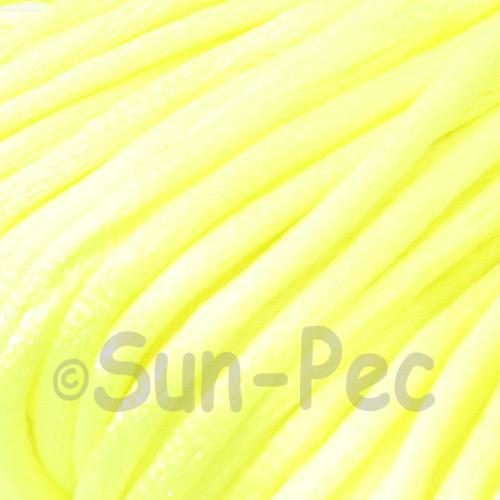 Neon Yellow 2.5mm Satin Rattail Knotting Cord 5m - 10m