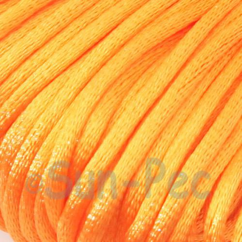Orange 2.5mm Satin Rattail Knotting Cord 5m - 10m