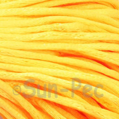 Orange Yellow 2.5mm Satin Rattail Knotting Cord 5m - 10m