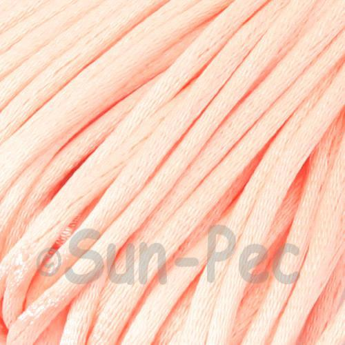 Peach 2.5mm Satin Rattail Knotting Cord 5m - 10m