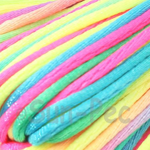 Rainbow 2.5mm Satin Rattail Knotting Cord 5m - 20m