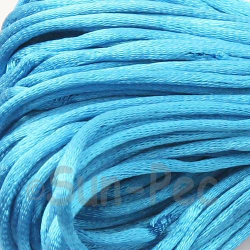 Sky Blue 2.5mm Satin Rattail Knotting Cord 5m - 10m