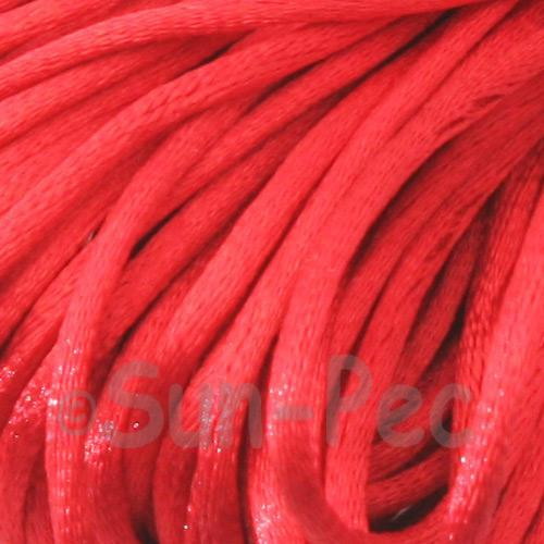 Scarlet Red 2.5mm Satin Rattail Knotting Cord 5m - 10m