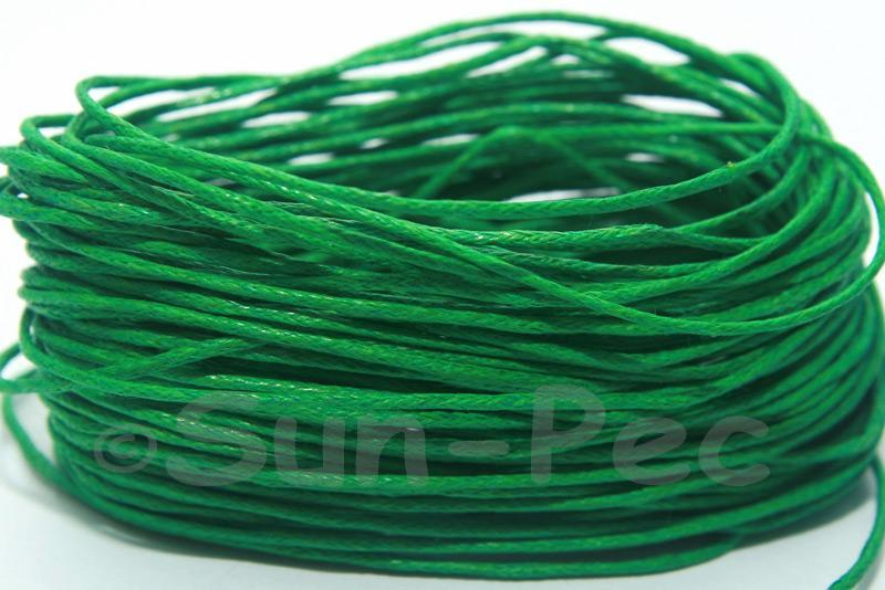 Green 1mm Smooth Coated Hemp Cord 5m - 60m