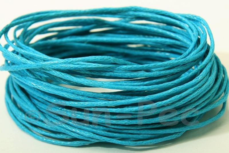 Brilliant Blue 1mm Smooth Coated Hemp Cord 5m - 60m