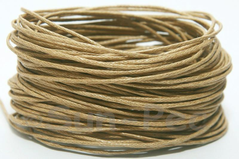Sandy 1mm Smooth Coated Hemp Cord 5m - 60m