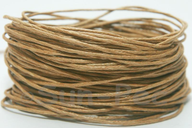 Sandy 1mm Smooth Coated Hemp Cord 5m - 60m