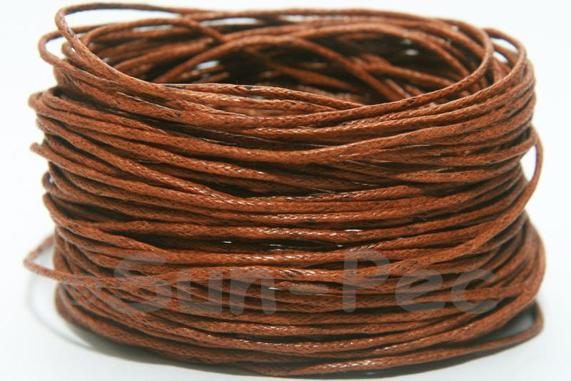 Brown 1mm Smooth Coated Hemp Cord 5m - 60m