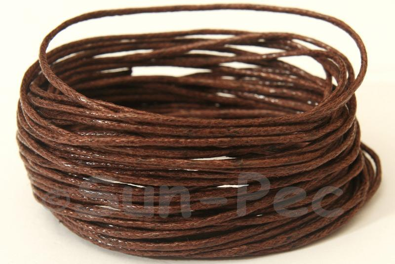 Coffee 1mm Smooth Coated Hemp Cord 5m - 60m
