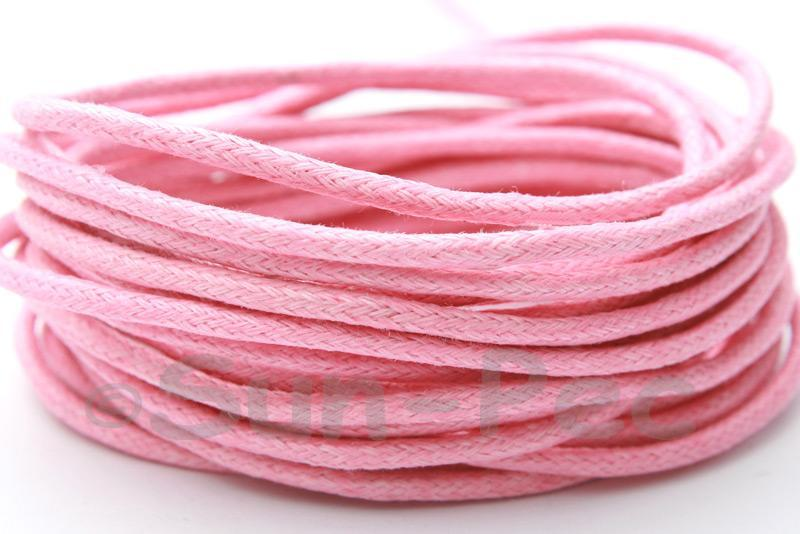Pink 2mm Smooth Coated Hemp Cord 2m - 50m