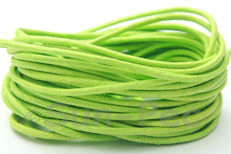 Pale Green 2mm Smooth Coated Hemp Cord 2m - 50m