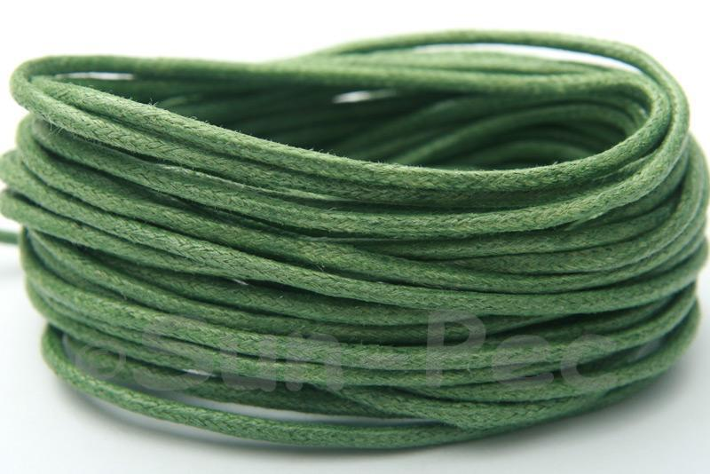 Army Green 2mm Smooth Coated Hemp Cord 2m - 50m