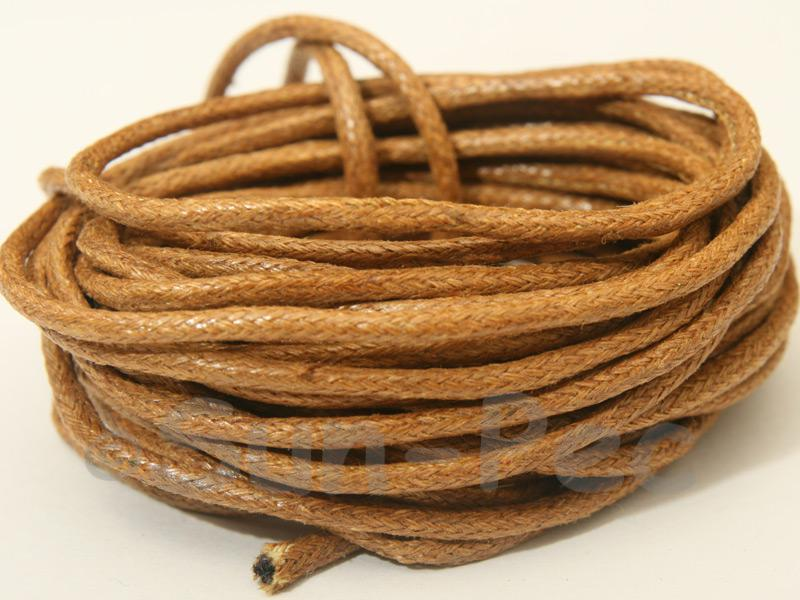 Sepia 2mm Smooth Coated Hemp Cord 2m - 50m