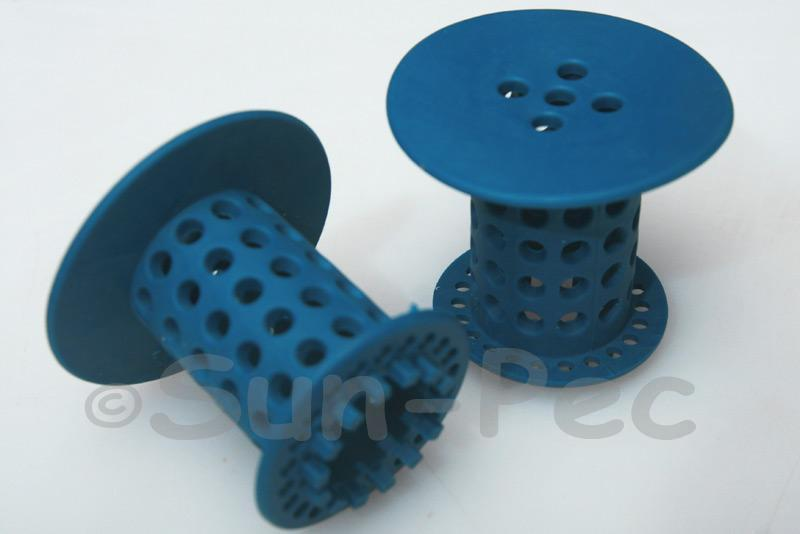 Hair Catcher for Shower/Basin Drainpipes Blue 1pcs - 4pcs