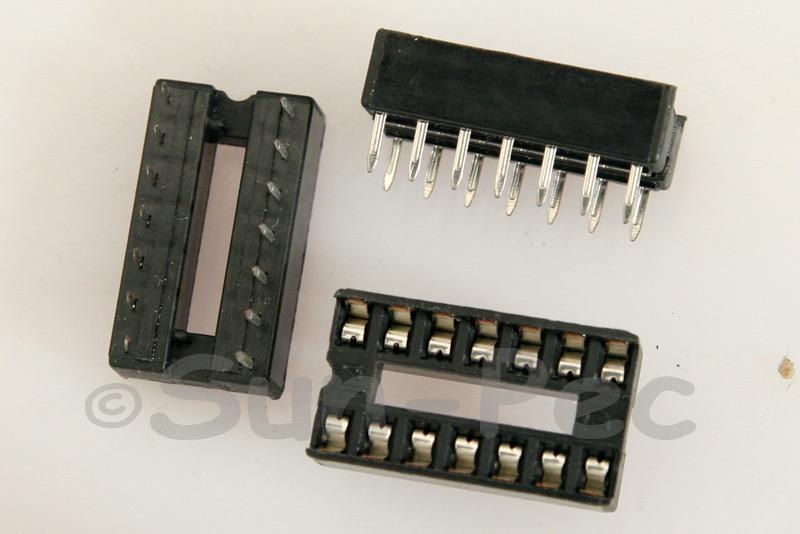 IC Socket Solder Type DIP14 5pcs - 20pcs