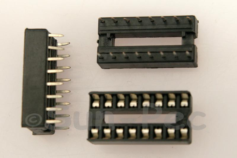 IC Socket Solder Type DIP16 5pcs - 20pcs