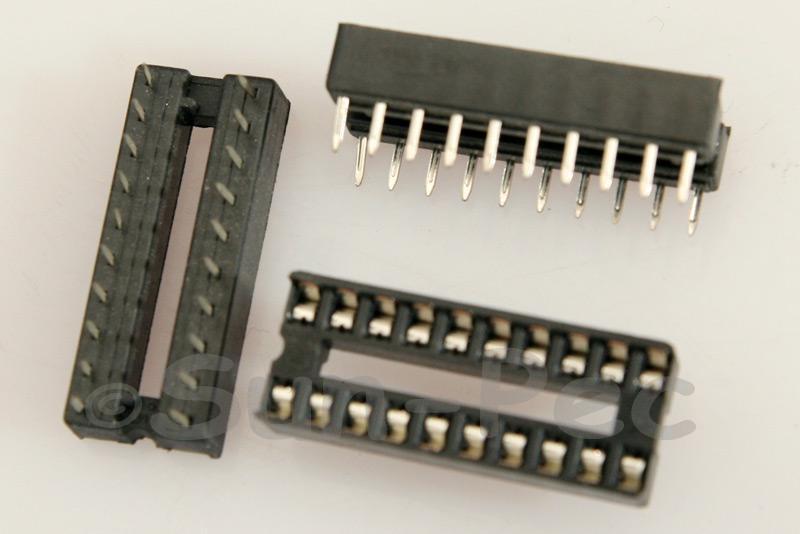 IC Socket Solder Type DIP20 5pcs - 20pcs