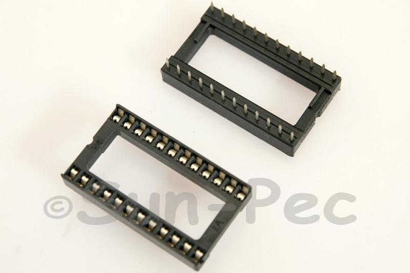 IC Socket Solder Type DIP24 2pcs - 10pcs
