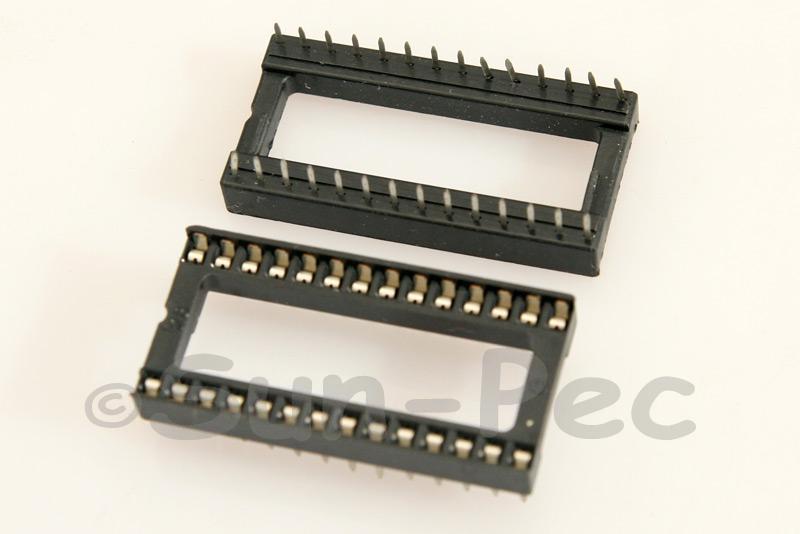 IC Socket Solder Type DIP28 2pcs - 10pcs