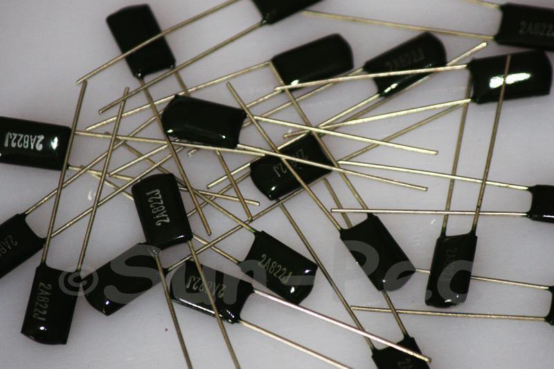 822J Polyester Poly Film Capacitor 100V +-5% 0.0082uf Radial 11 x 4 x 7mm 10pcs - 40pcs