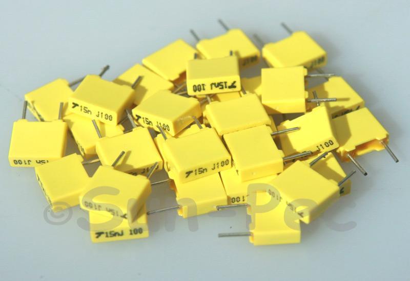 153J Polyester Film Capacitor CBB 100V +-5% 0.015uf 5pcs - 40pcs