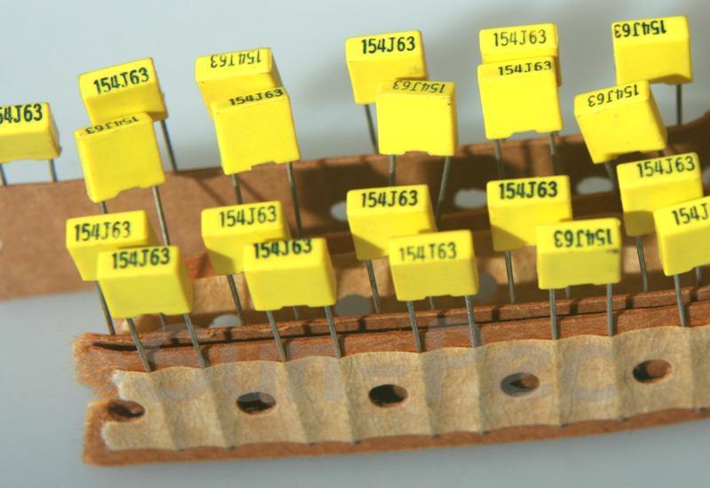 154J Polyester Film Capacitor CBB 63V +-5% 0.15uf 5pcs - 40pcs