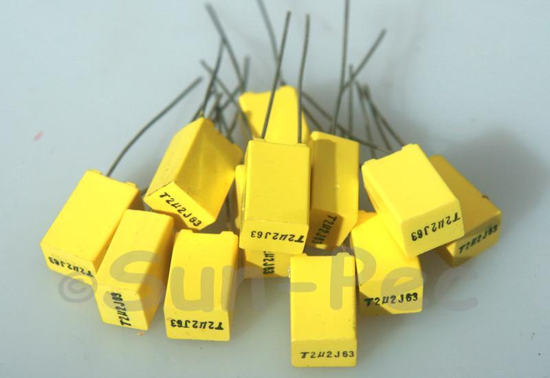 225J Polyester Film Capacitor CBB 63V +-5% 2.2uf 5pcs - 40pcs