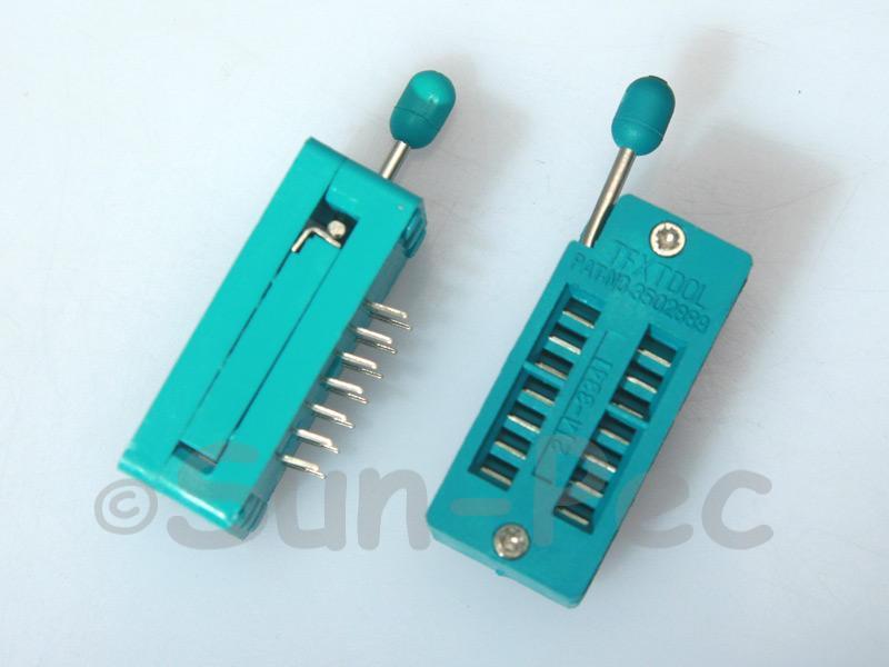 Universal ZIF DIP IC test Socket ZIF14 1pcs - 4pcs