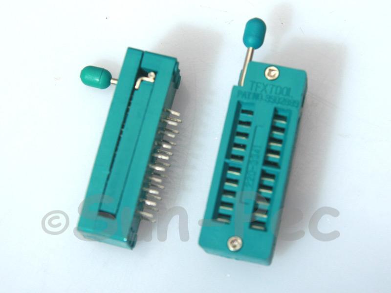 Universal ZIF DIP IC test Socket ZIF20 1pcs - 4pcs