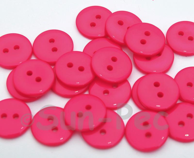 Rose #1 15mm Standard Round 2 Eye Hole Buttons 20pcs - 50pcs