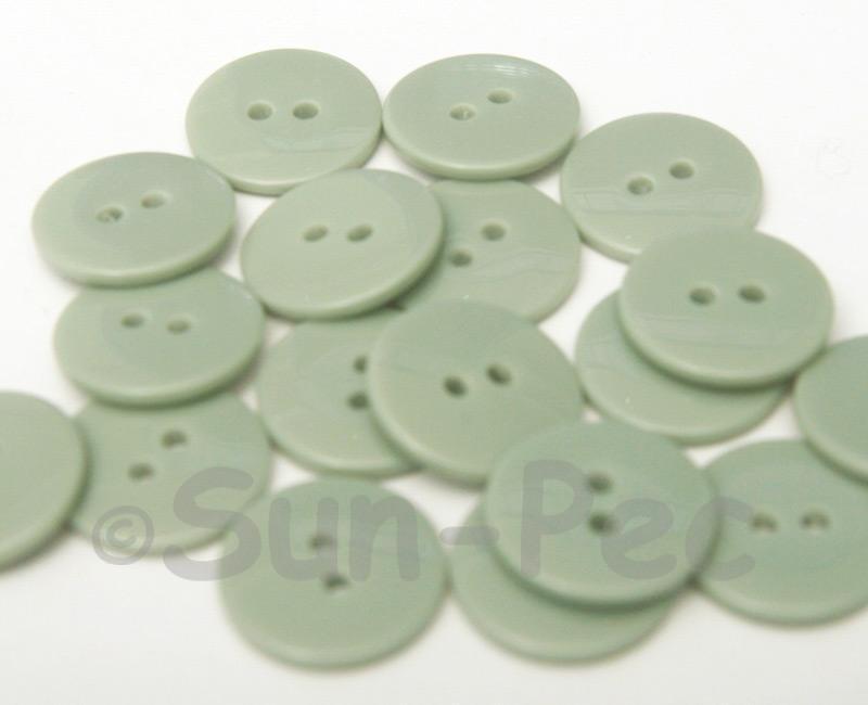 Gray 18mm Standard Round 2 Eye Hole Buttons 20pcs - 50pcs