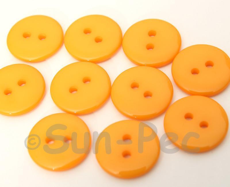 Light Orange 18mm Standard Round 2 Eye Hole Buttons 20pcs - 50pcs