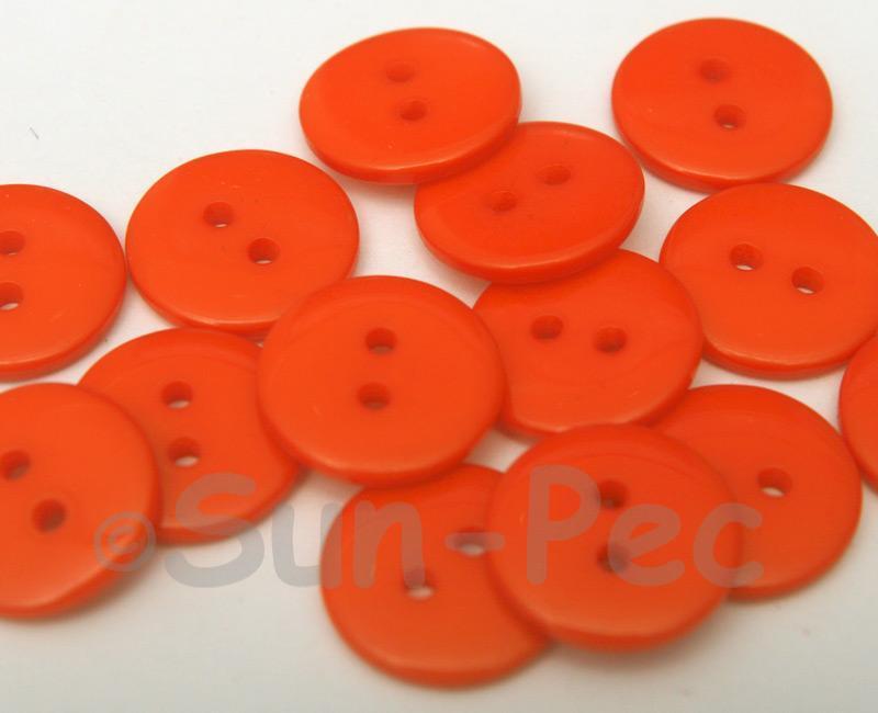 Orange #1 18mm Standard Round 2 Eye Hole Buttons 20pcs - 50pcs