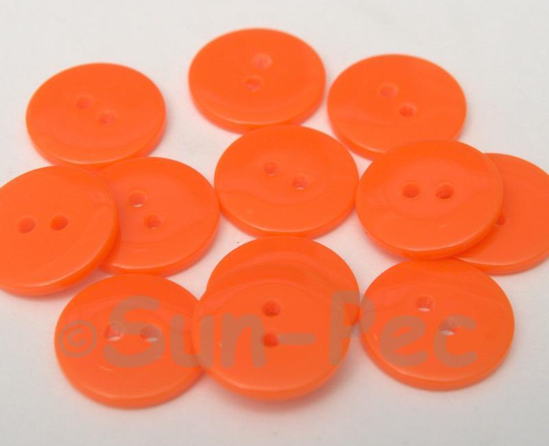 Orange #2 18mm Standard Round 2 Eye Hole Buttons 20pcs - 50pcs