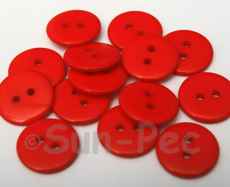 Red #2 18mm Standard Round 2 Eye Hole Buttons 20pcs - 50pcs