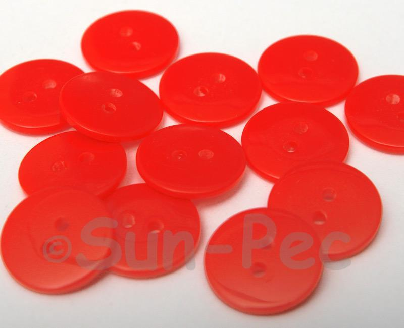 Red #3 18mm Standard Round 2 Eye Hole Buttons 20pcs - 50pcs