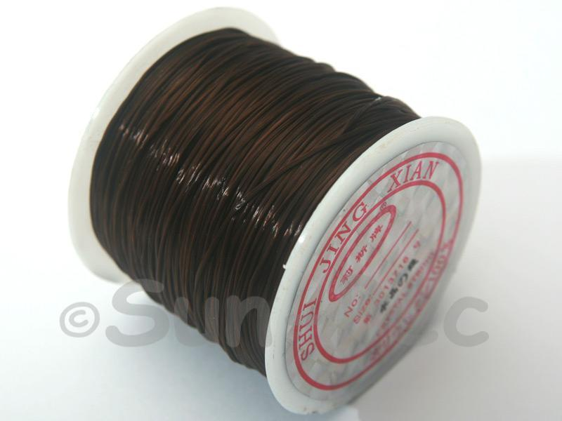 Strong & Stretchy Silicone Elastic Thread Brown 0.5mm 1pcs