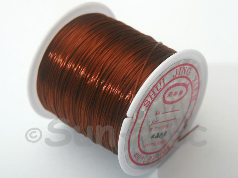 Strong & Stretchy Silicone Elastic Thread Coffee 0.5mm 1pcs