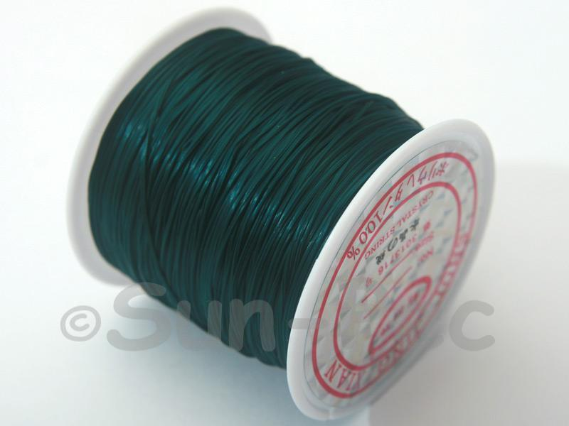 Dark Green 0.5mm Strong & Stretchy Silicone Elastic Thread 1reel
