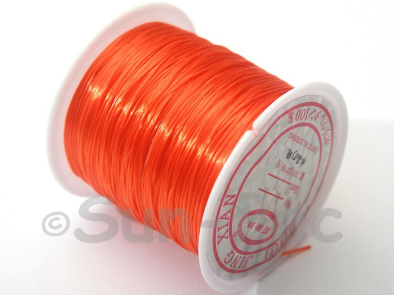 Dark Orange 0.5mm Strong & Stretchy Silicone Elastic Thread 1reel