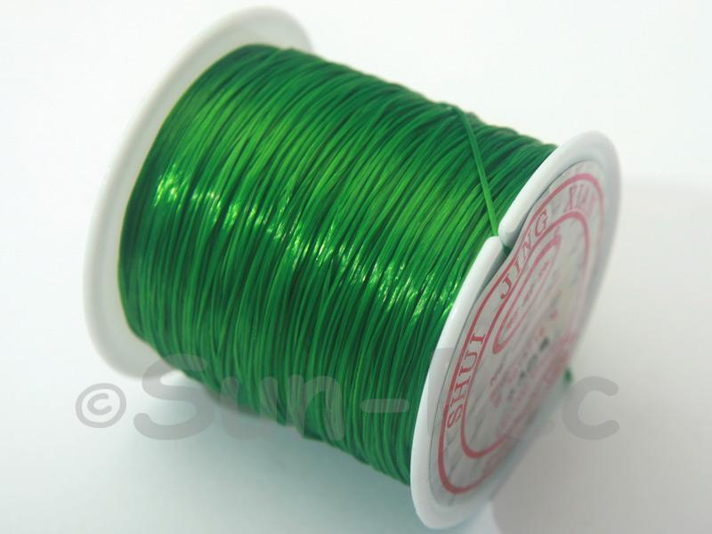 Green 0.5mm Strong & Stretchy Silicone Elastic Thread 1reel
