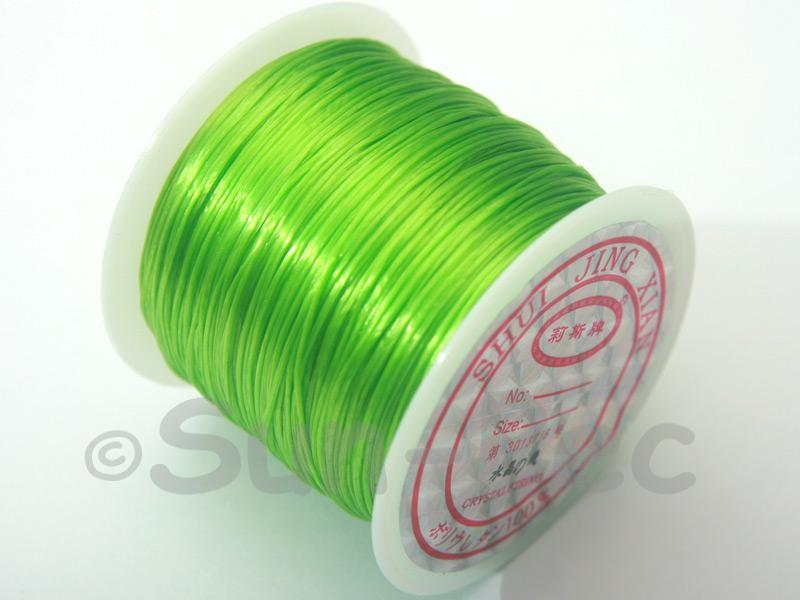 Light Green 0.5mm Strong & Stretchy Silicone Elastic Thread 1reel