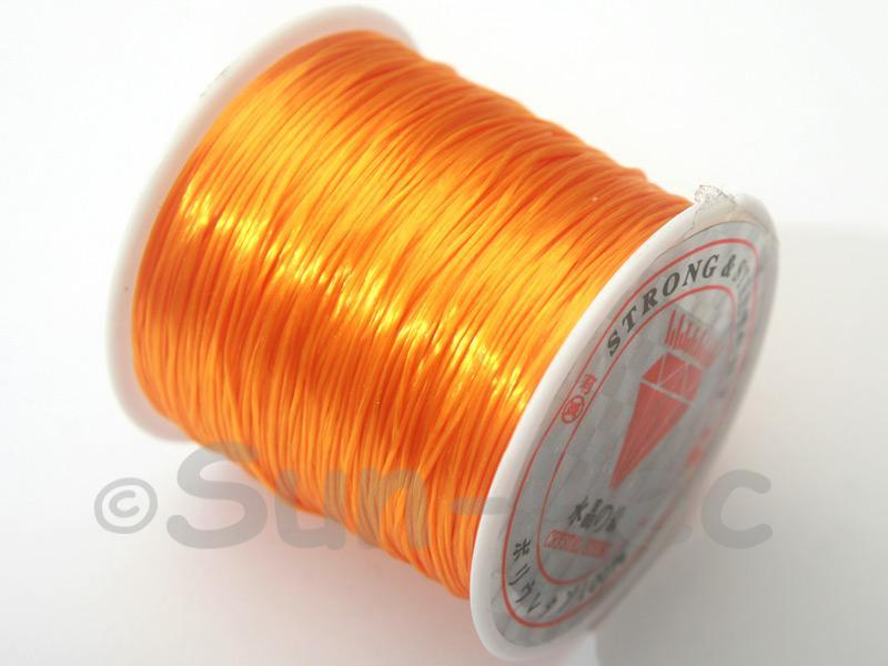 Orange 0.5mm Strong & Stretchy Silicone Elastic Thread 1reel