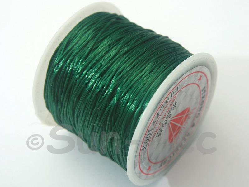 Pine Green 0.5mm Strong & Stretchy Silicone Elastic Thread 1reel